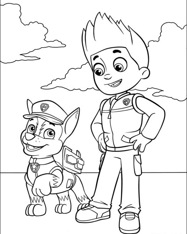 Paw Patrol Coloring Pages Free Transparent PNG Logos