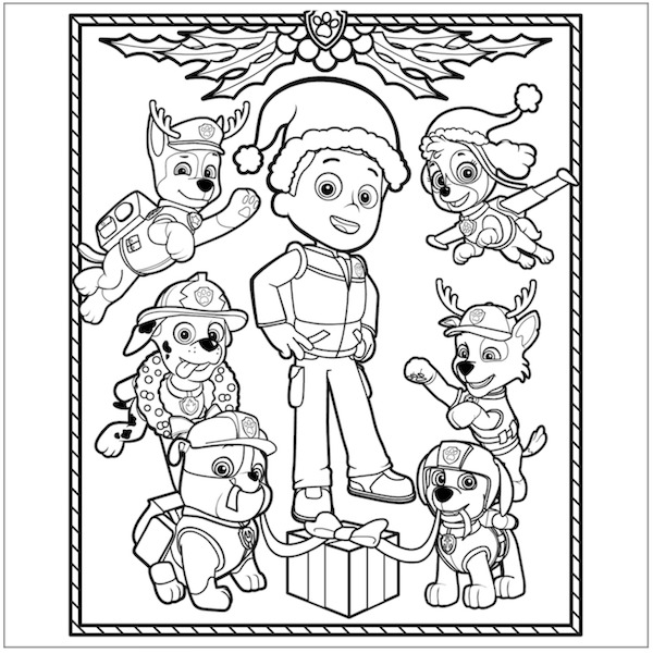 paw patrol coloring pages #2637