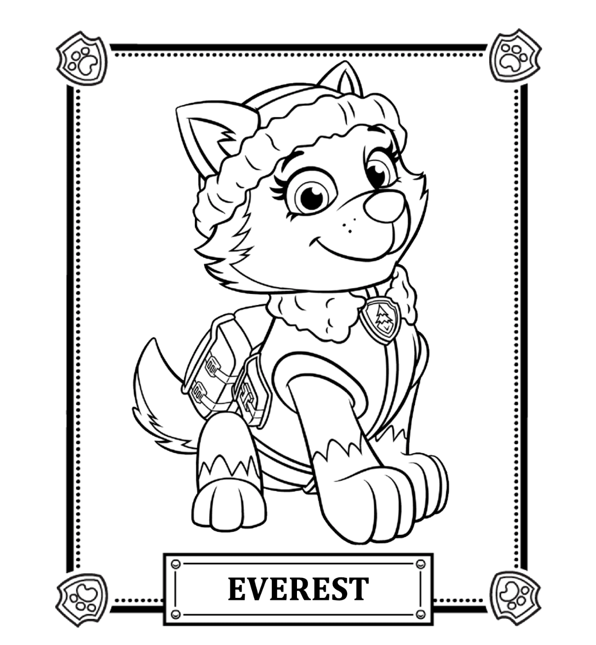 paw patrol coloring pages #2643