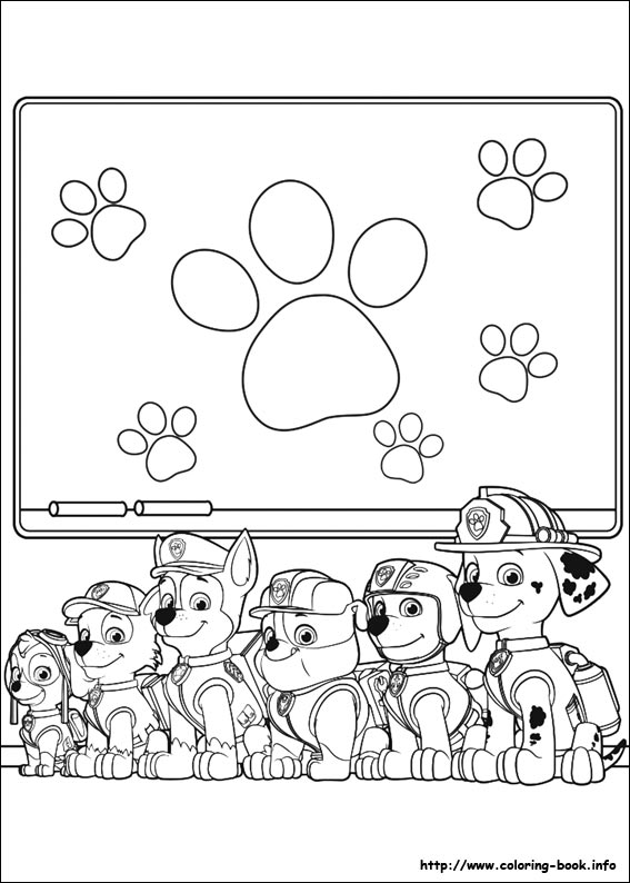 paw patrol coloring pages photo #2648