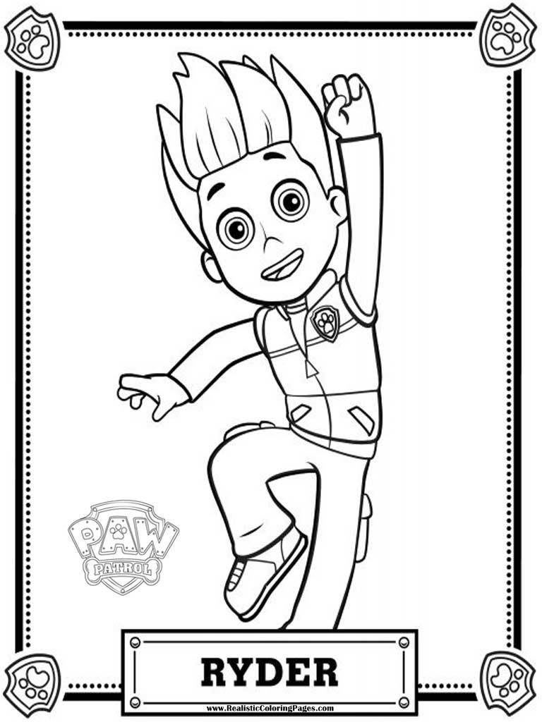 paw patrol coloring pages ryder #2630