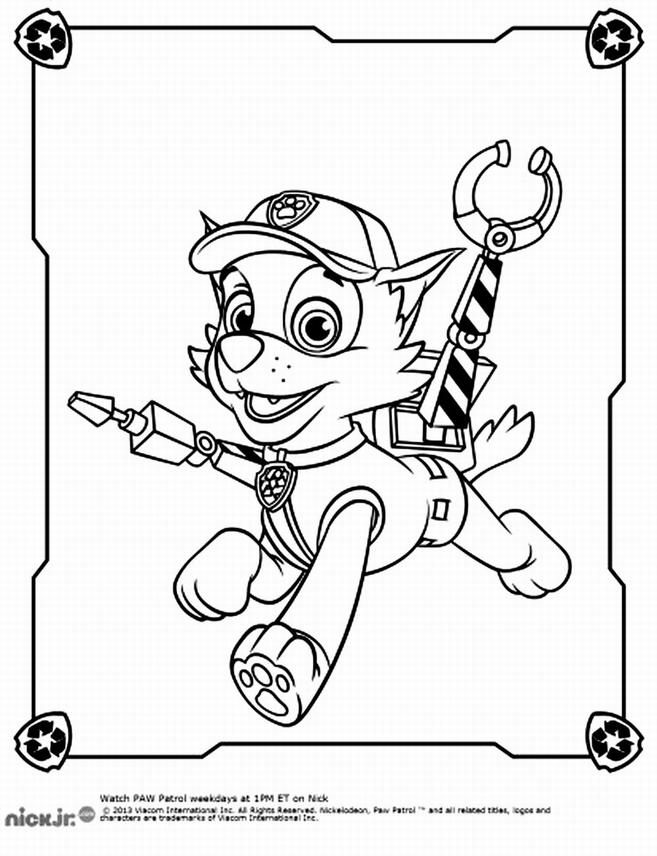 paw patrol rocky coloring pages #2641