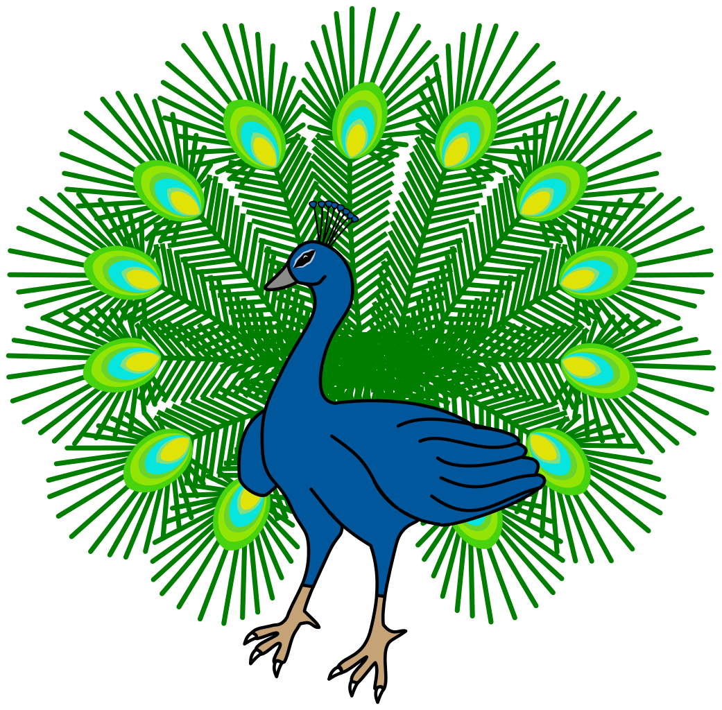 file heraldic peacock svg wikimedia commons 20868