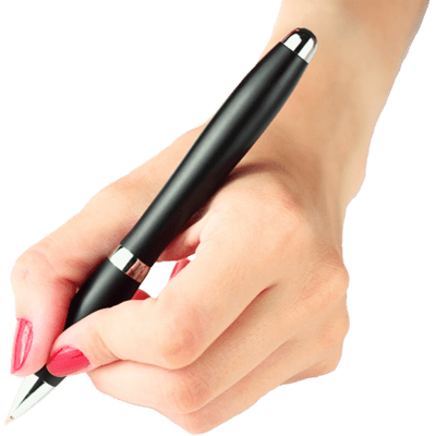 hand with pen, hand holding pen transparent png stickpng #13192
