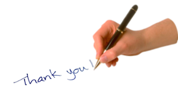 hand with pen thank you write #13200