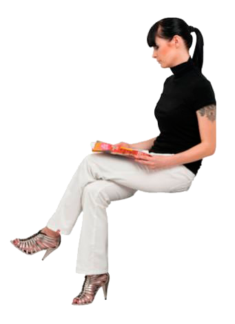 people sitting, cutout woman sitting cutout people cutout people png #17287