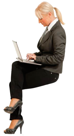 people sitting, cutout woman sitting laptop cutout people png #17349