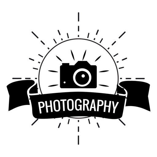 photography logo, photography flash ribbon camera transparent png svg vector #25076