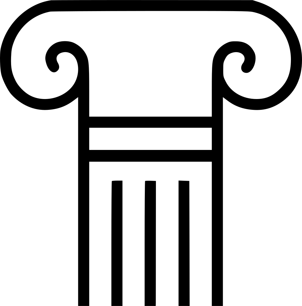 pillar icon image and royalty vector #37385