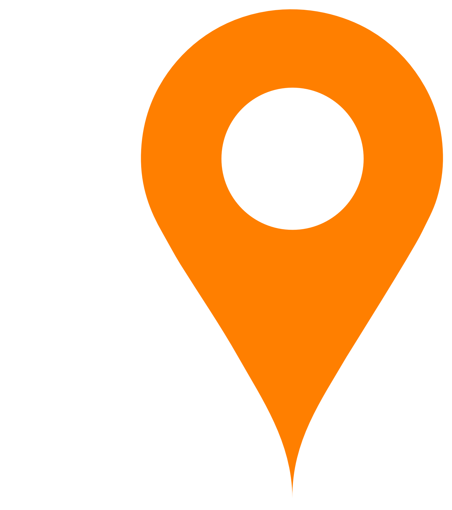 orange map pin transparent png stickpng #21473