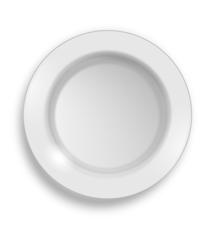 clipart white plate #15087
