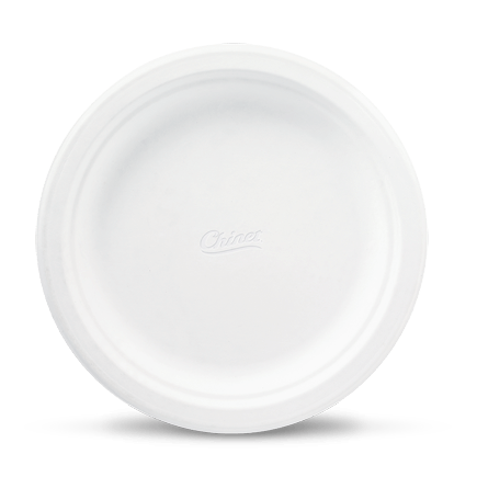 plate, biodegradable round paper plates chinet classic white #15079