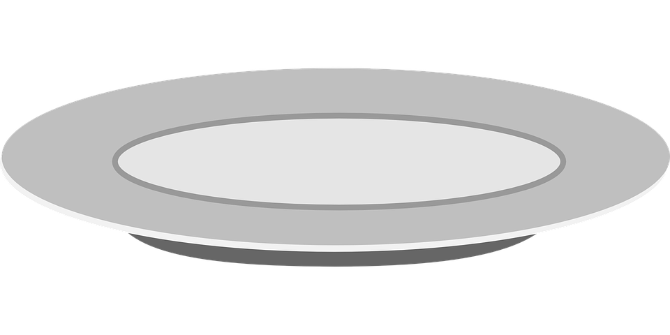 plate teller dish vector graphic pixabay #15063