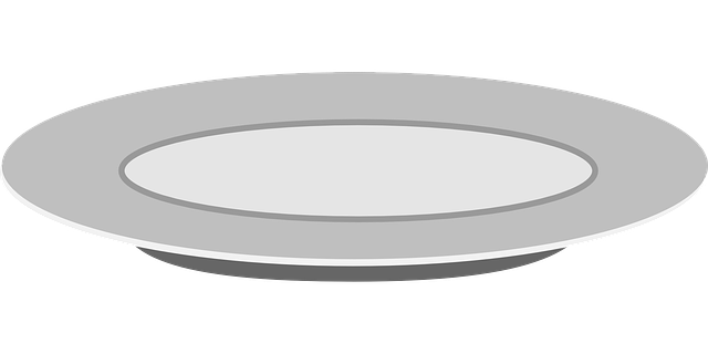 plate teller dish vector graphic pixabay #15064