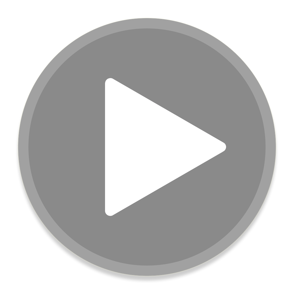 play button, play grey button transparent png stickpng #28268