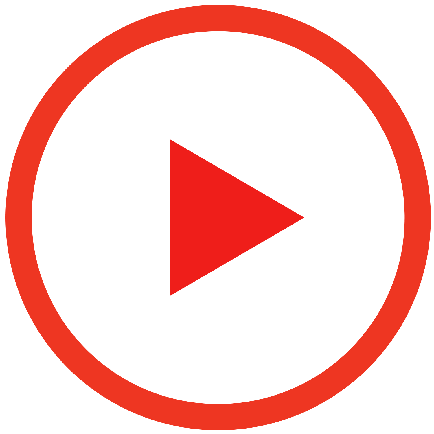 play button, play red outline button transparent png stickpng #28256