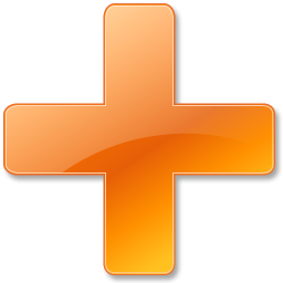 plus orange icon vista base software icons  #23548