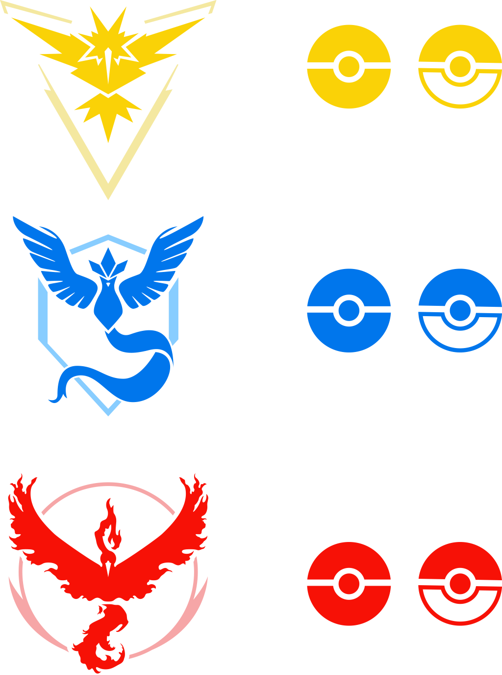 pokemon go team png logos