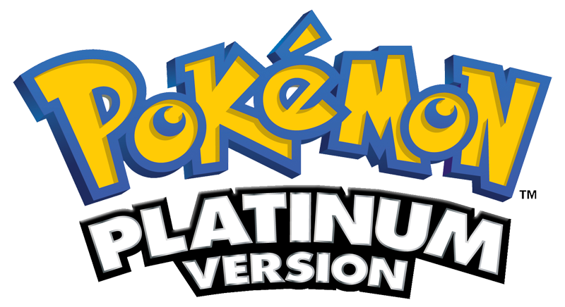 Pokemon Platinum Version logo png #1424