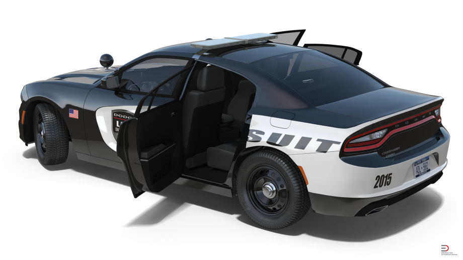 dodge charger police car rigged model cgstudio #23882