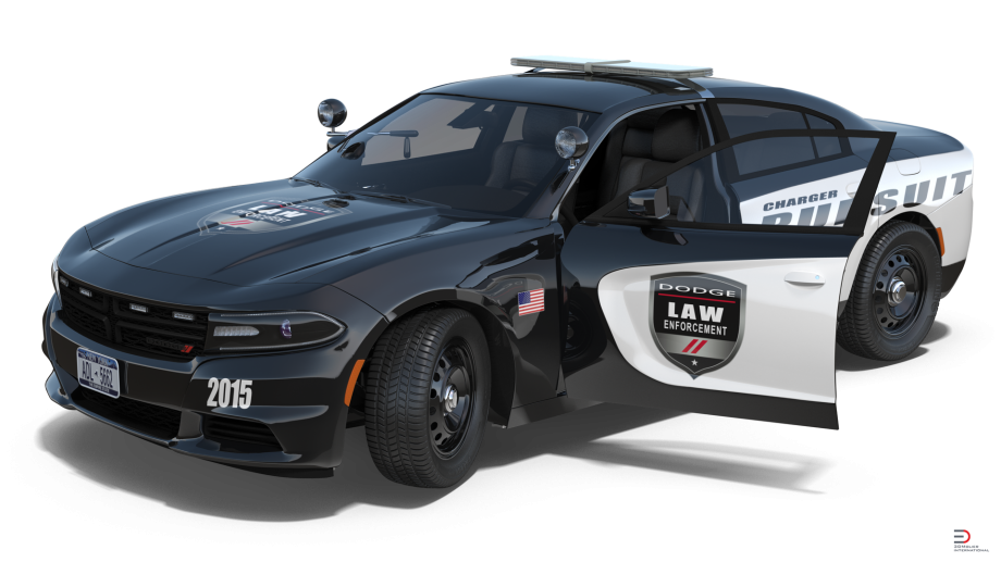 dodge charger police car rigged model cgstudio #23894