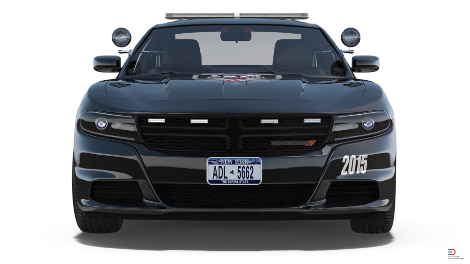dodge charger police car rigged model cgstudio #24024