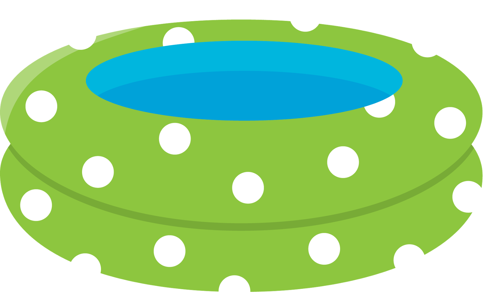 enjoying the swimming pool toys games and sports clipart #26635