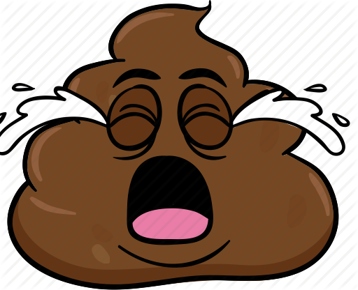 cartoon emoji face poo pooh poop icon #20246