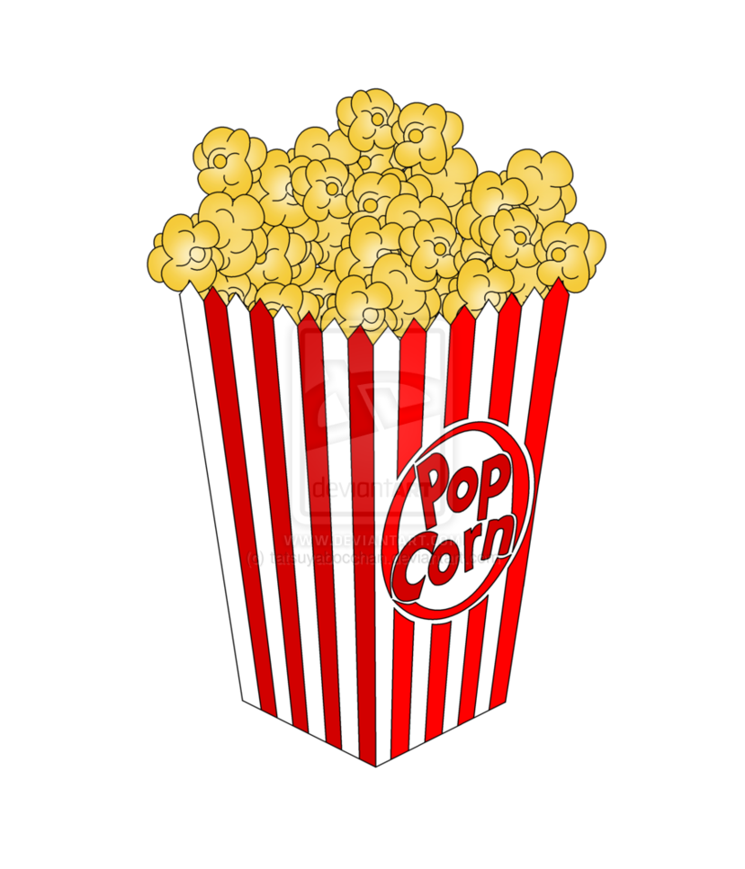 popcorn clipart transparent background pencil and #16673