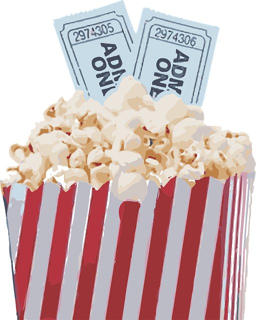 vector graphic popcorn movie pop corn snack #16700