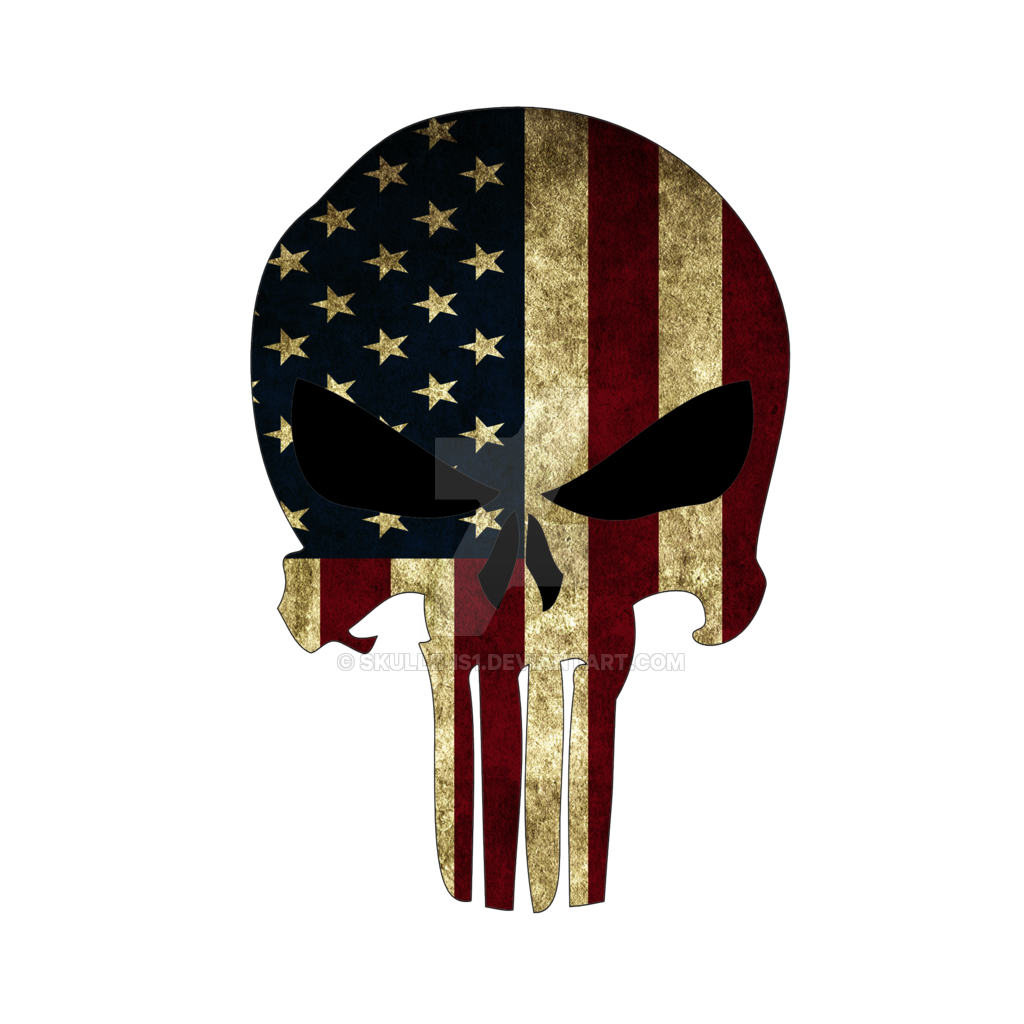 punisher american flag png logo #3615