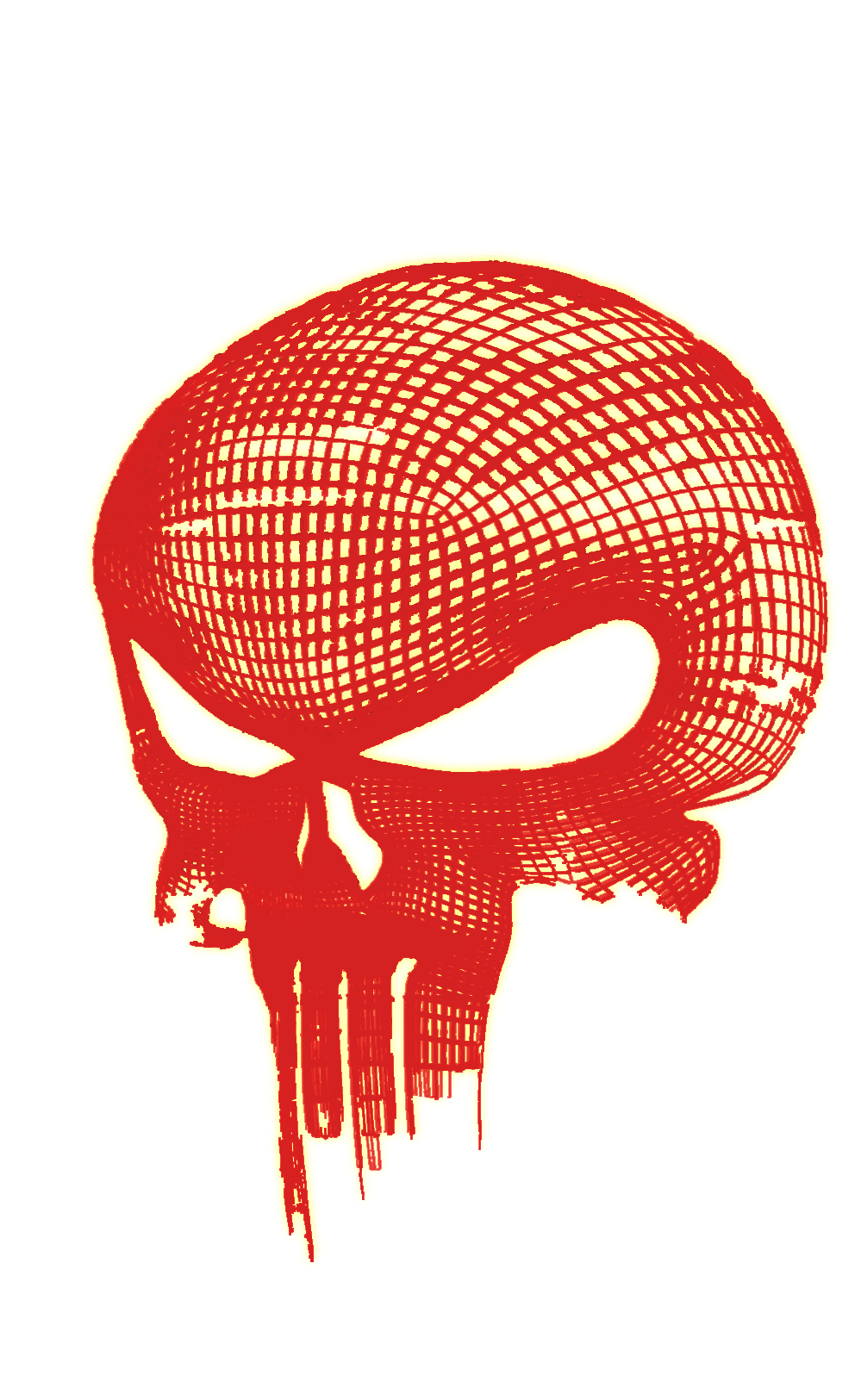 the punisher glowing skull png logo #3602