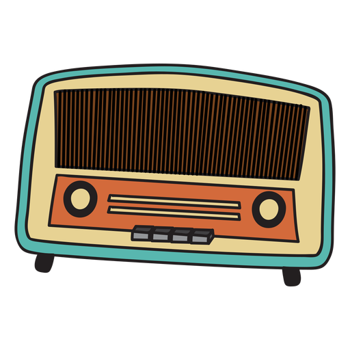 vintage radio doodle transparent png svg vector #21246