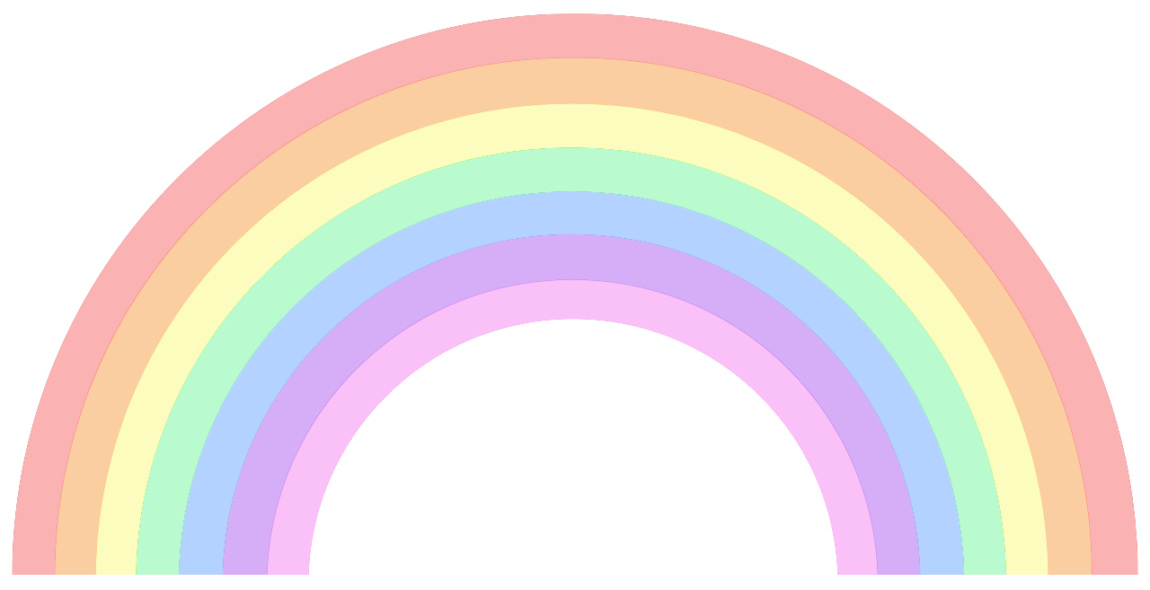 pastel transparent rainbow queen bitch clip art #12392