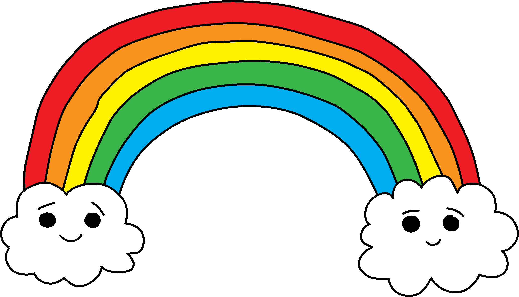 rainbow, happy birthday materials code club #12401