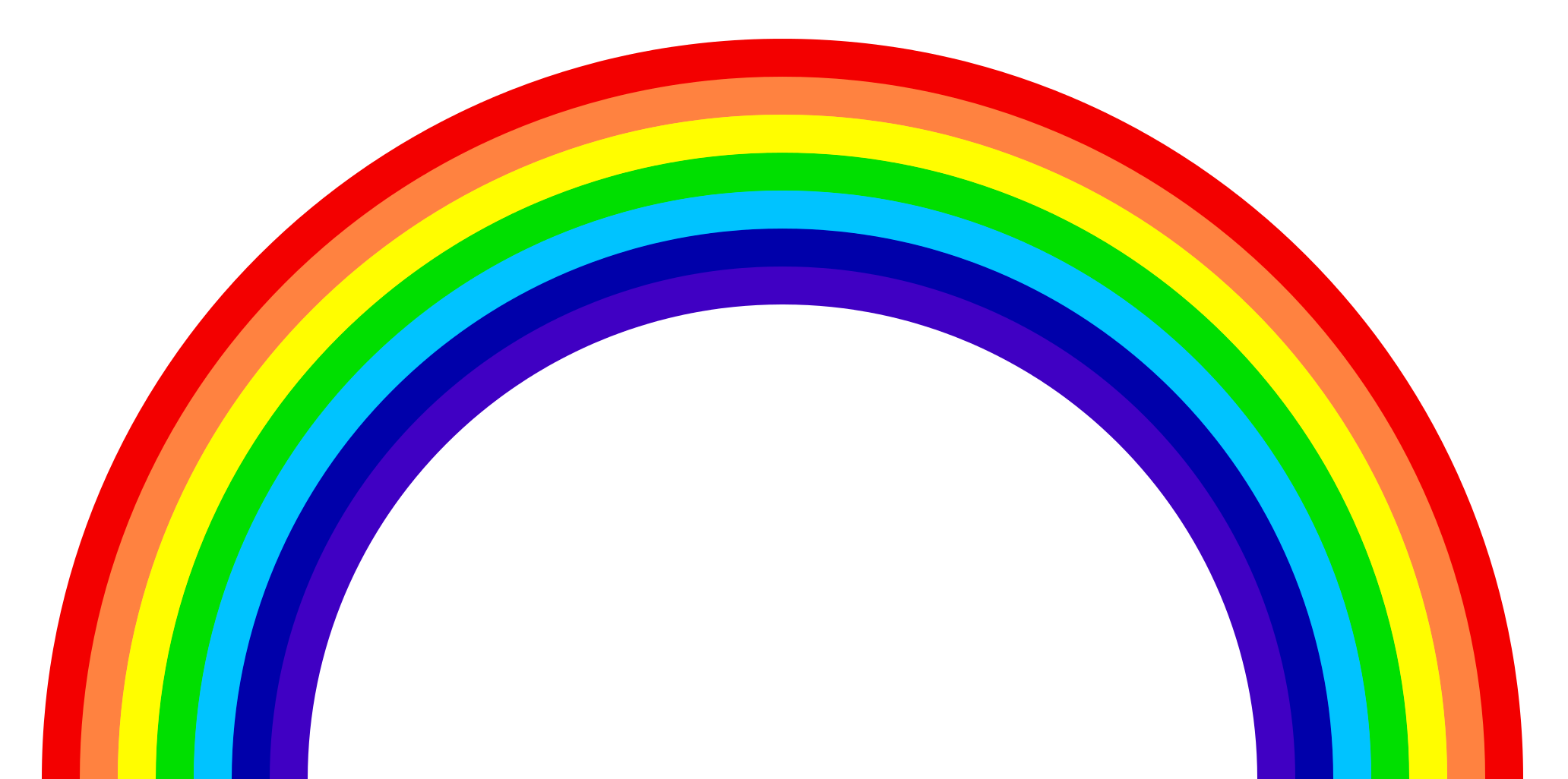 rainbow png images colors the sky png only #12383