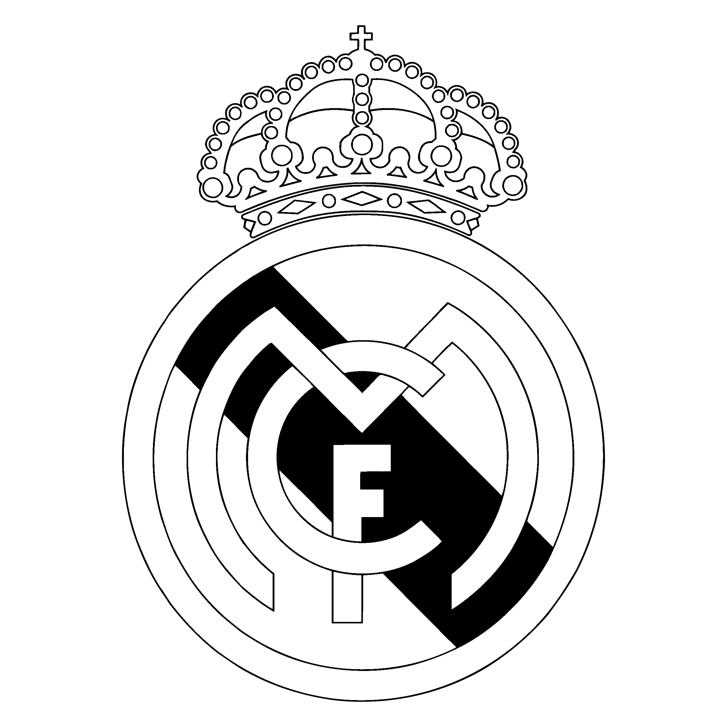 real madrid logo png transparent svg vector bie supply #28357