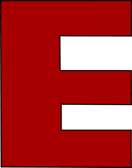 red alphabet letter e png #1415