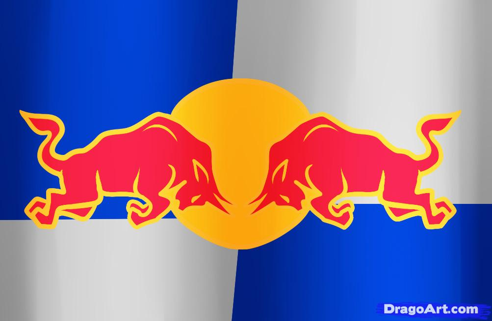 how to draw red bull, step by step, symbols red bull png logo #2832