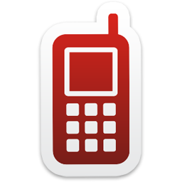Red Mobile Phone Icon logo 1354
