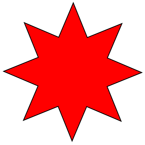 red star, file eight rayed star red svg wikipedia #19047