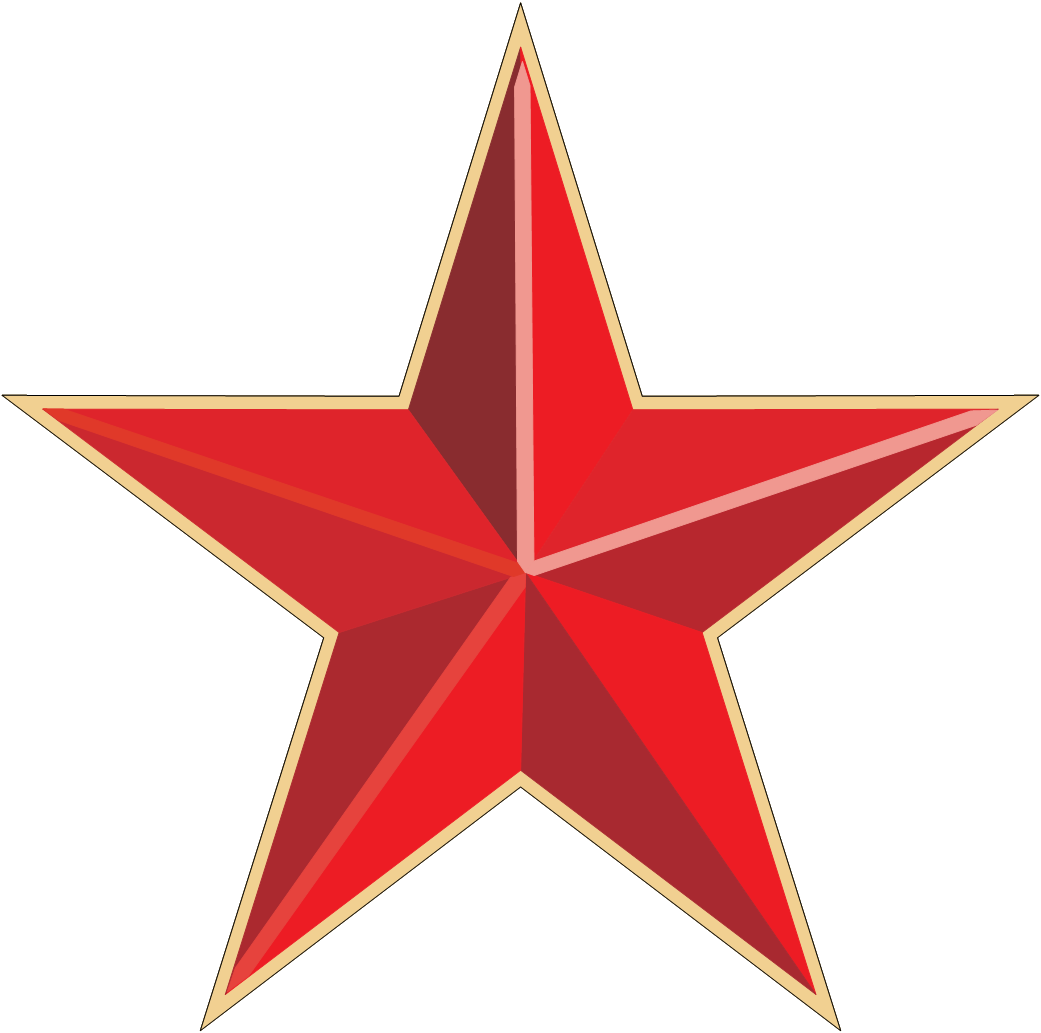 red star png image #19128
