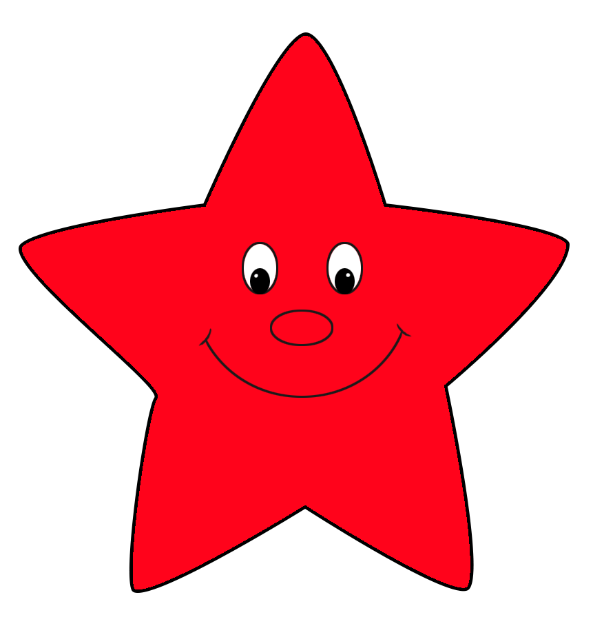 red star, star clipart #19125