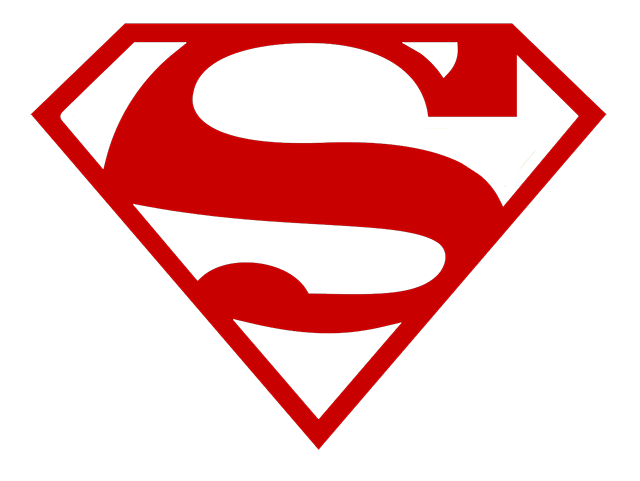 Red Superman logo template #1545