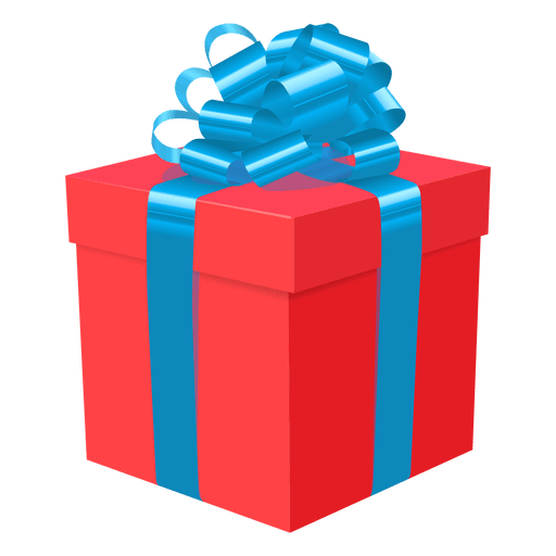 regalos red gift box blue bow icon transparent png #39873