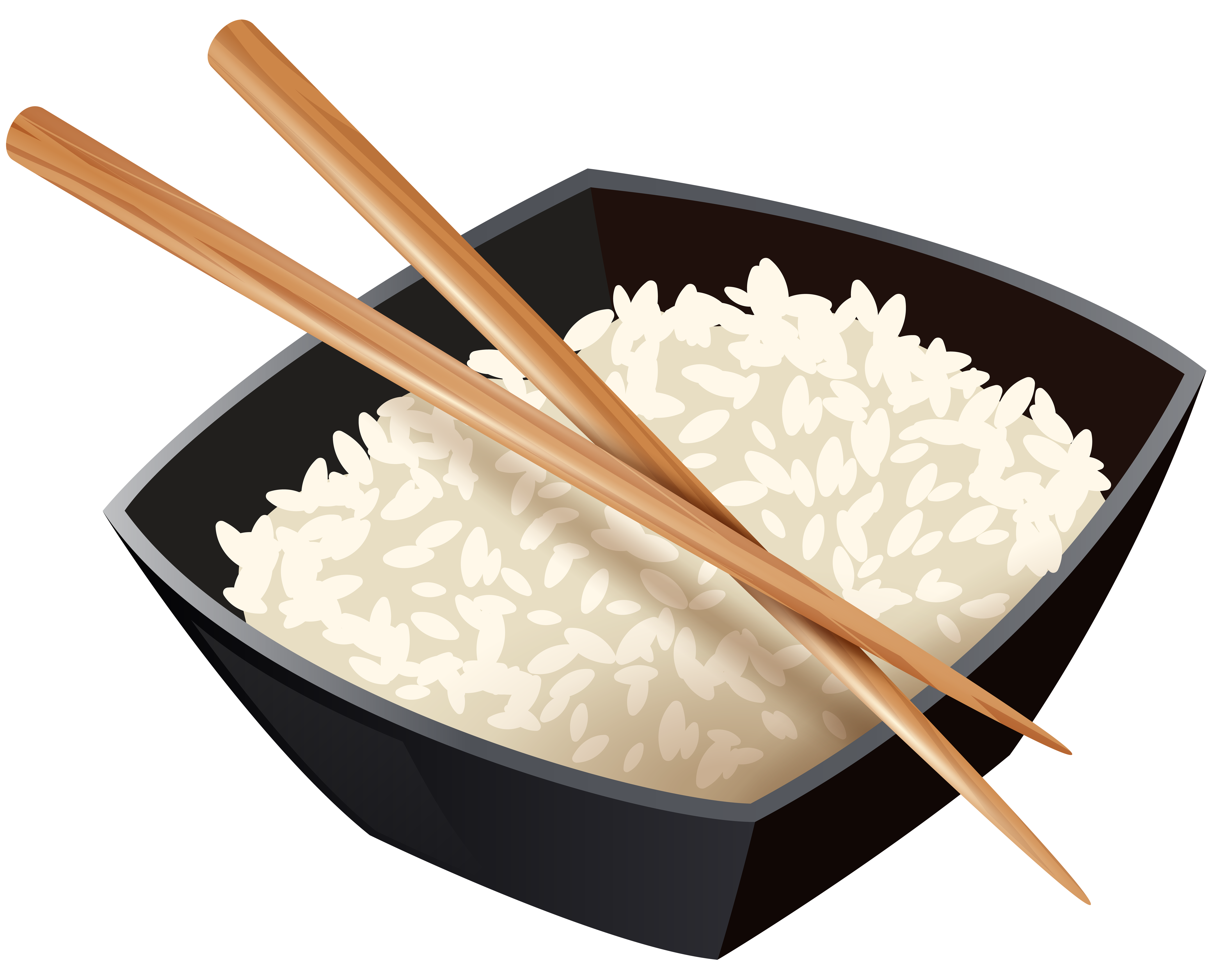 chinese rice and chopsticks best web clipart #22936