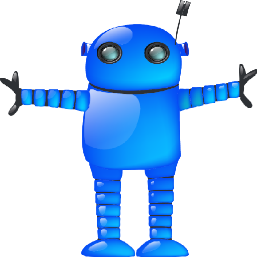blue robot icon large android icons softiconsm #18899