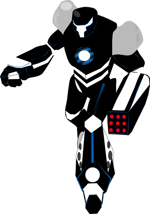 robot black white vector graphic pixabay #18888
