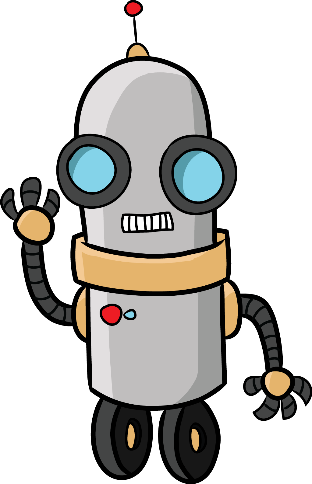 robot clipart cartoon pencil and color robot clipart #18905