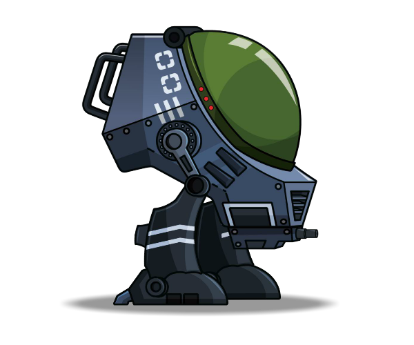 war robot, ray gun boy royalty game art #20696